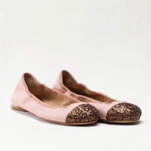 Massimo Dutti ballet flats with sparkle toe